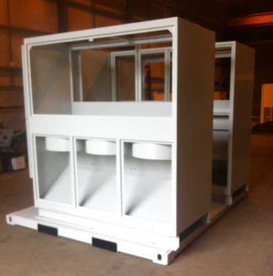Custom designed steel container fabrication