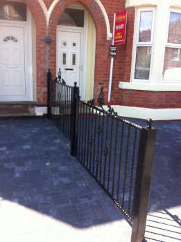 Installed fencing