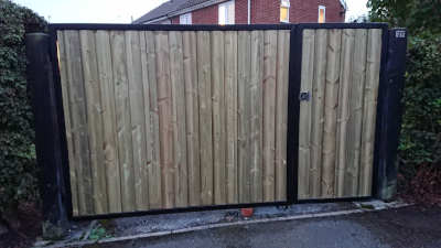 Wood inlay gates